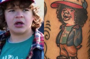 Tatoo do personagem Dustin da série Stranger Things - Netflix